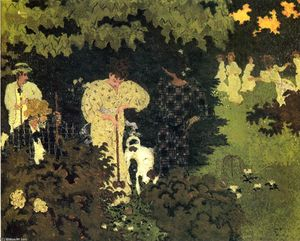 Pierre Bonnard - Dusk, or A Round of Croquet