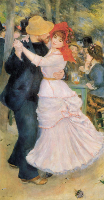 Order Reproductions | Dance at Bougival by Pierre-Auguste Renoir | Most-Famous-Paintings.com