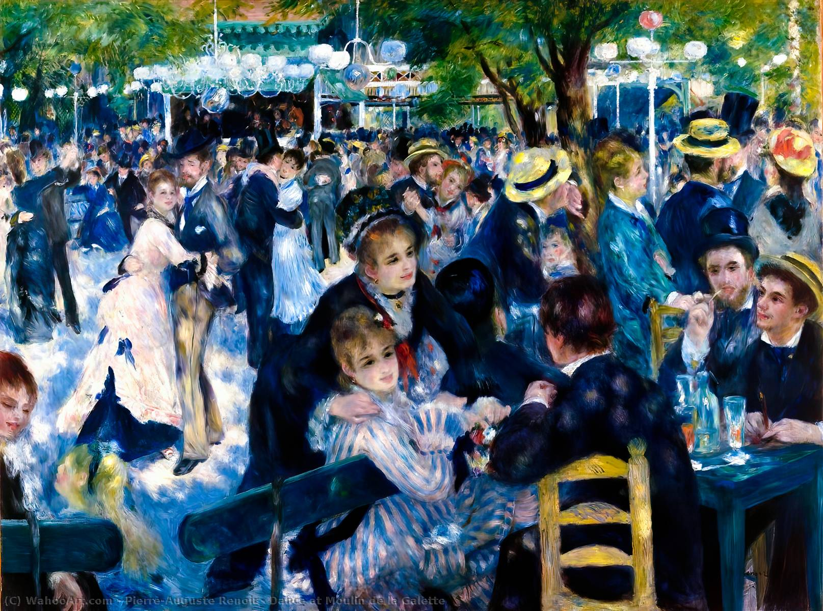 Buy Museum Art Reproductions | Dance at Moulin de la Galette by Pierre-Auguste Renoir | Most-Famous-Paintings.com