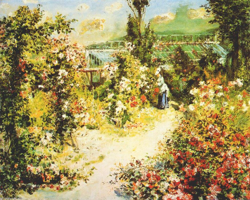 famous painting The greenhouse of Pierre-Auguste Renoir