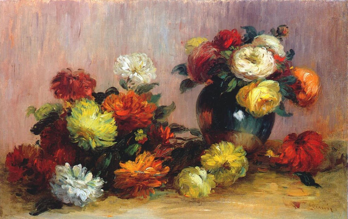 famous painting Bouquets of Flowers of Pierre-Auguste Renoir