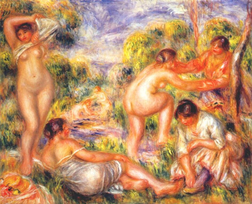 famous painting Bathers of Pierre-Auguste Renoir