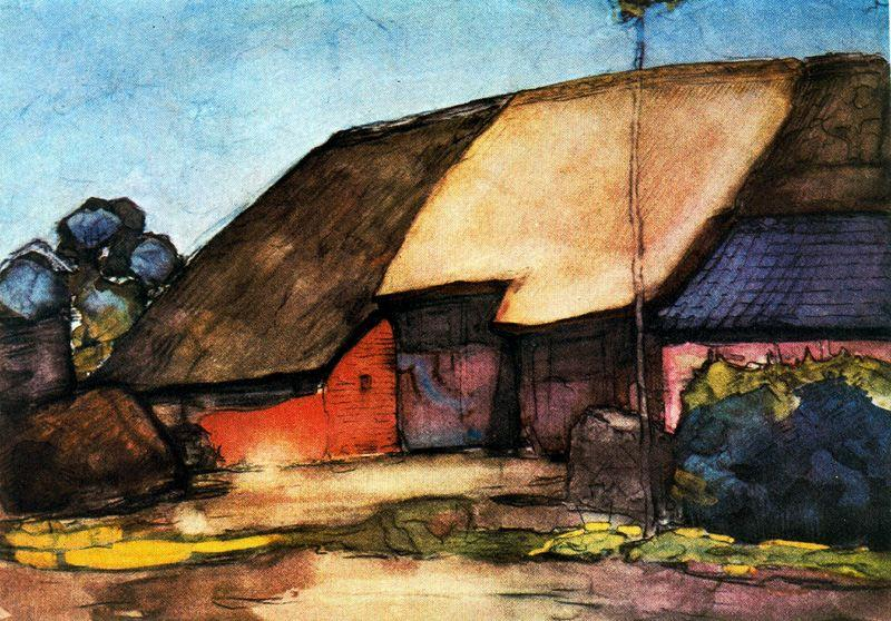 famous painting Small farm on Nistelrode of Piet Mondrian
