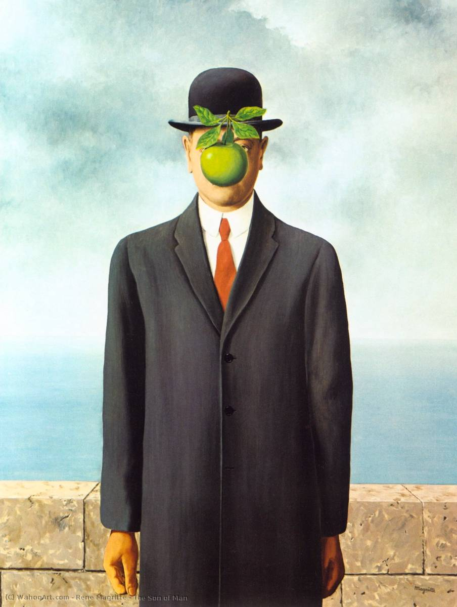 Order Paintings Reproductions : The Son of Man by Rene Magritte | Most-Famous-Paintings.com