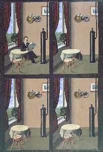 Rene Magritte - Man reading a newspaper