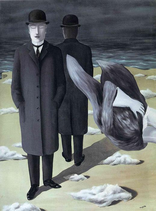 famous painting The meaning of night of Rene Magritte