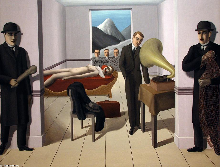 famous painting The Menaced Assassin of Rene Magritte