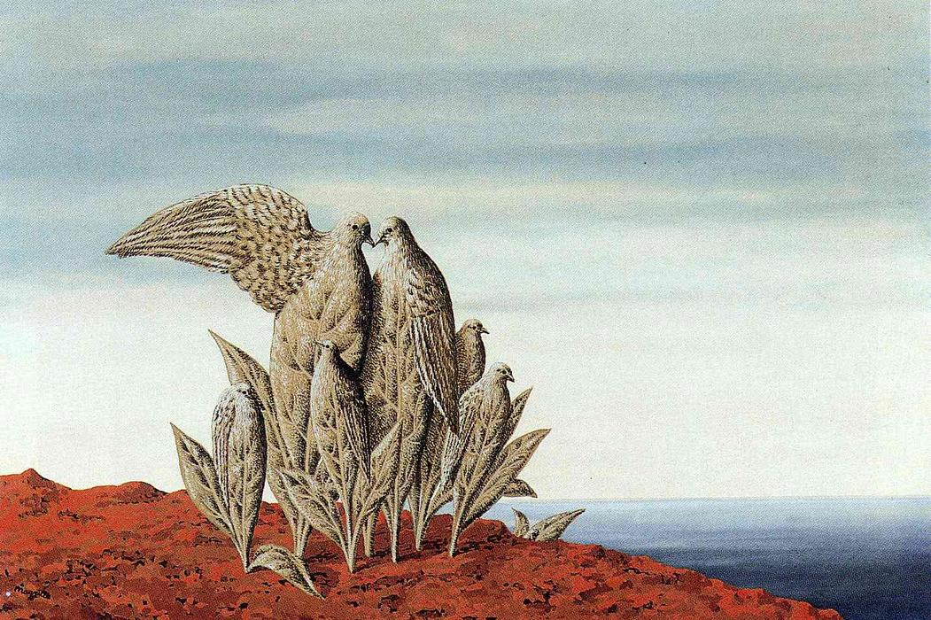 famous painting Island of Treasures of Rene Magritte