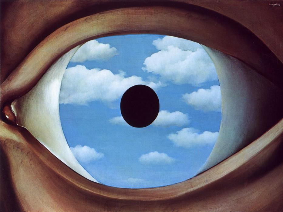 famous painting The false mirror of Rene Magritte