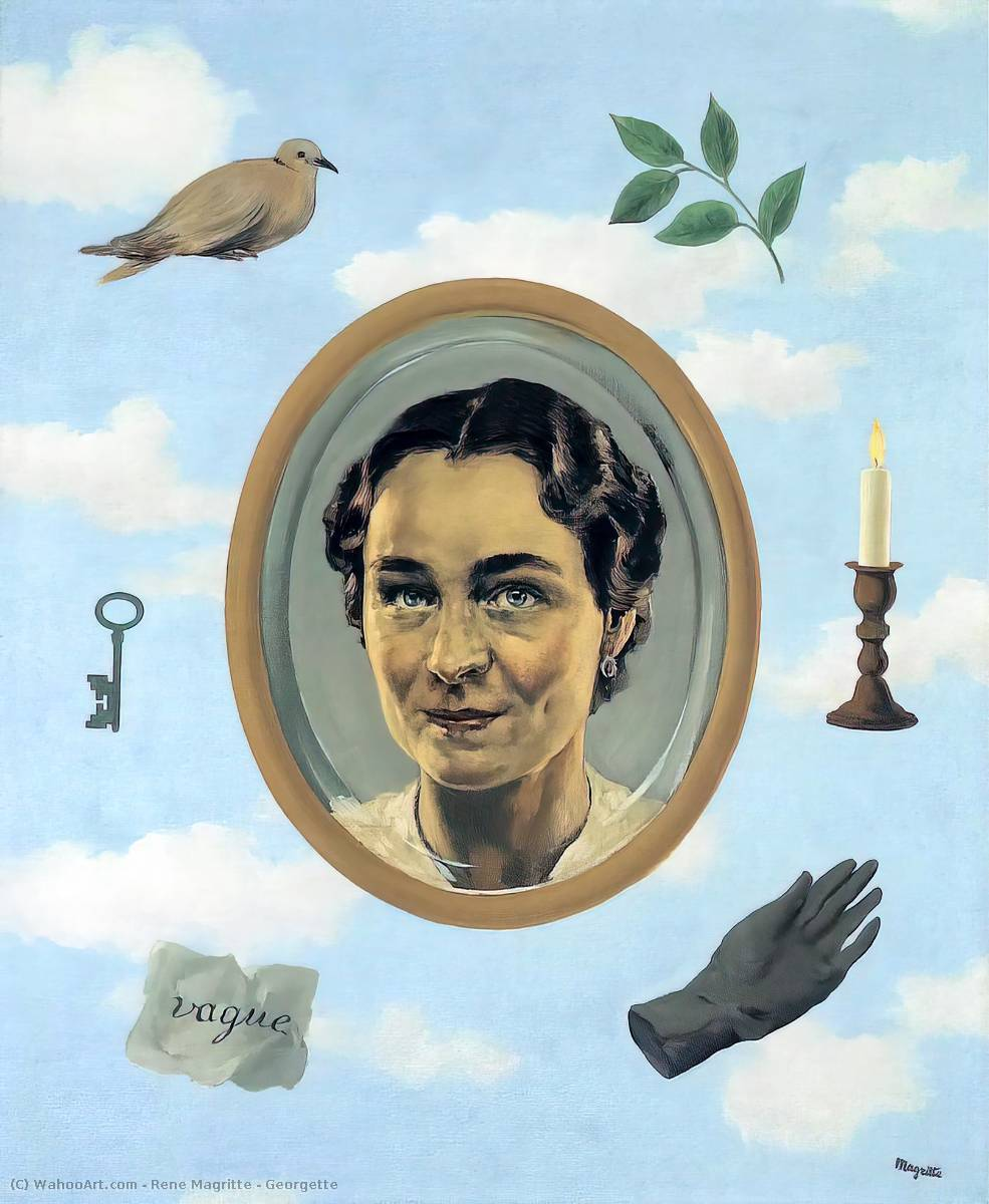 famous painting Georgette of Rene Magritte