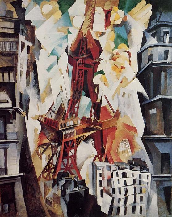 famous painting Eiffel Tower of Robert Delaunay