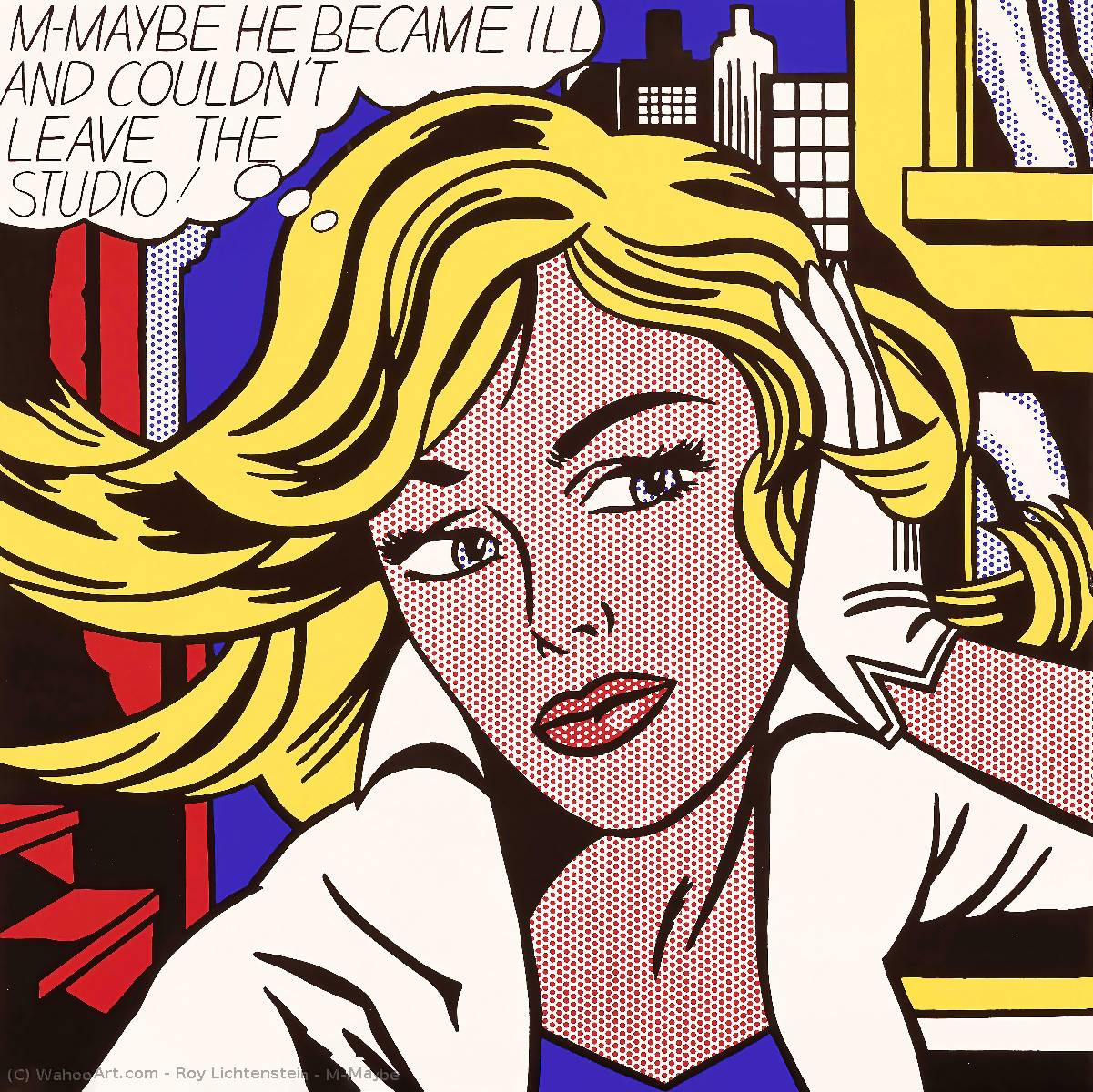 | M-Maybe by Roy Lichtenstein | Most-Famous-Paintings.com