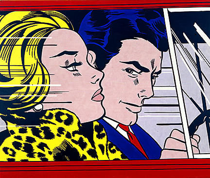 | In the car by Roy Lichtenstein | Most-Famous-Paintings.com