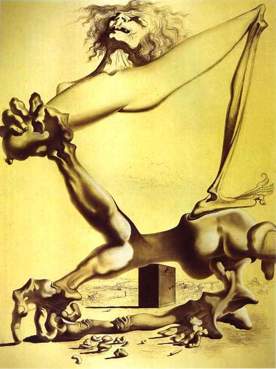famous painting Premonition of Civil War of Salvador Dali