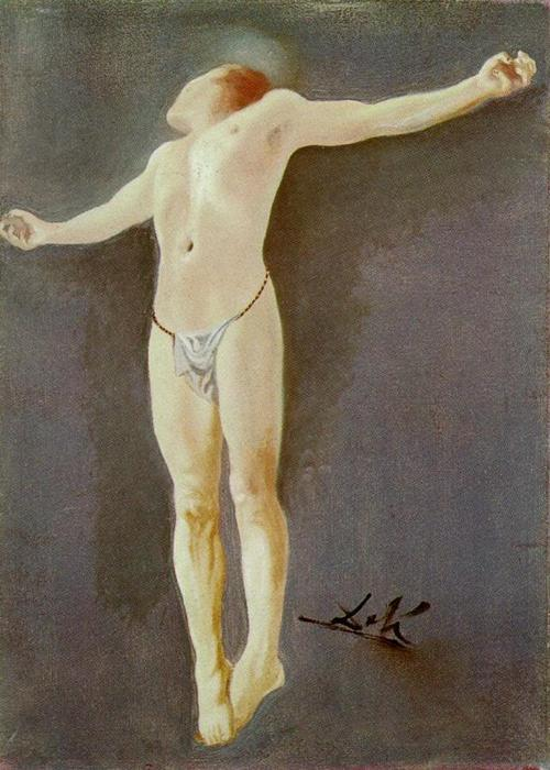 famous painting Crucifixion of Salvador Dali