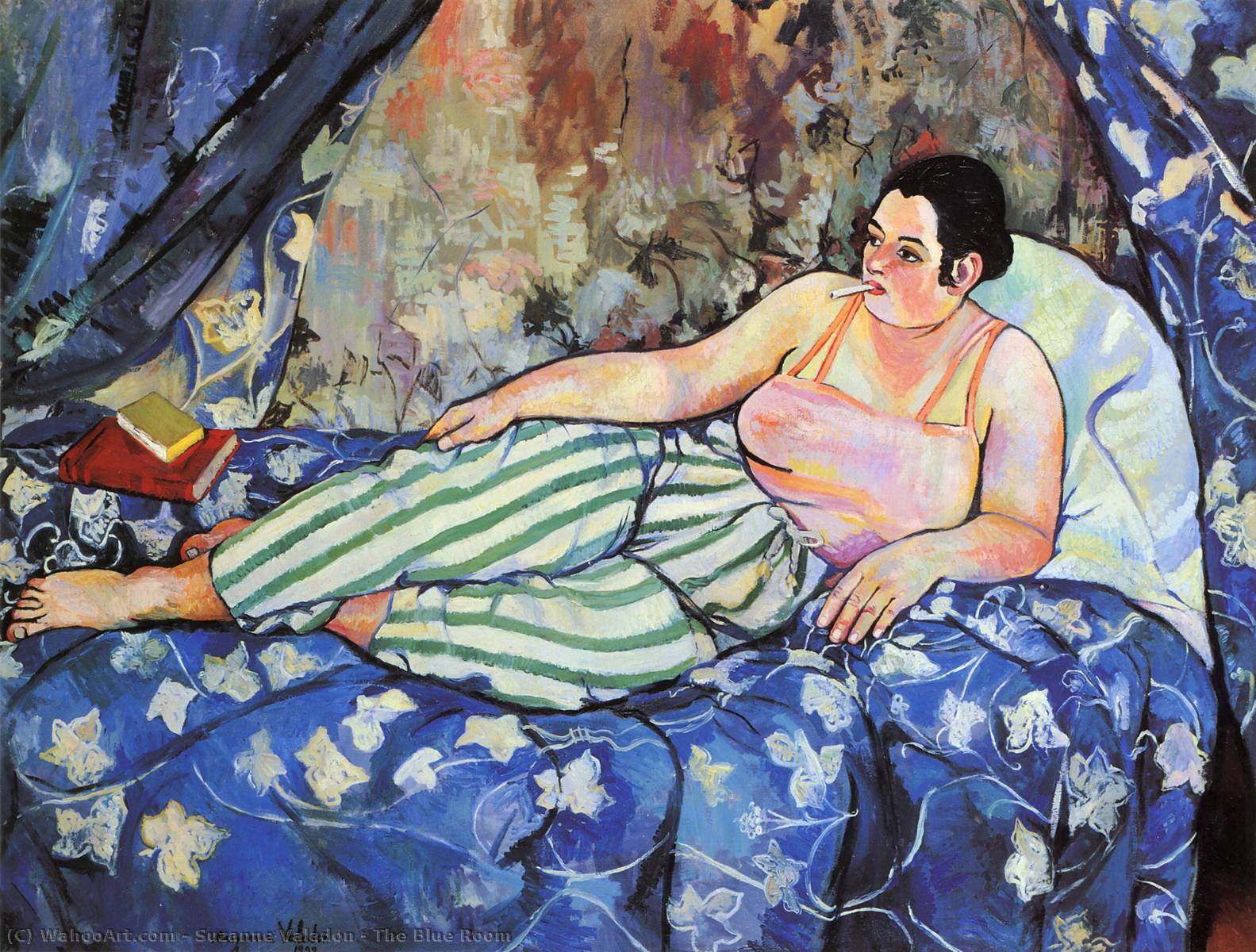 Order Paintings Reproductions | The Blue Room by Suzanne Valadon | Most-Famous-Paintings.com