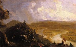 Thomas Cole - Sketch for The Oxbow