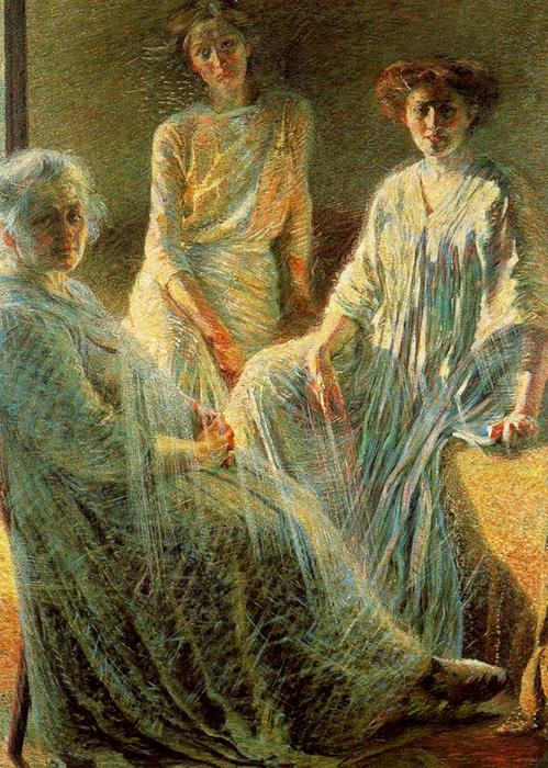 Buy Museum Art Reproductions | Three Women by Umberto Boccioni | Most-Famous-Paintings.com