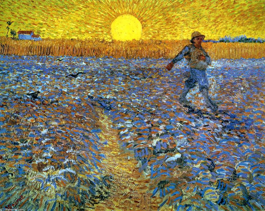 Order Art Reproductions | The Sower (Sower with Setting Sun) by Vincent Van Gogh | Most-Famous-Paintings.com