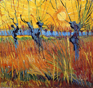 Vincent Van Gogh - Pollard Willows and Setting Sun