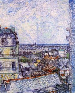 Vincent Van Gogh - View from Vincent's room in the Rue Lepic