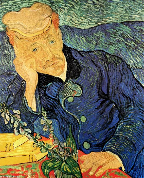 Order Reproductions | Dr. Paul Gachet by Vincent Van Gogh | Most-Famous-Paintings.com