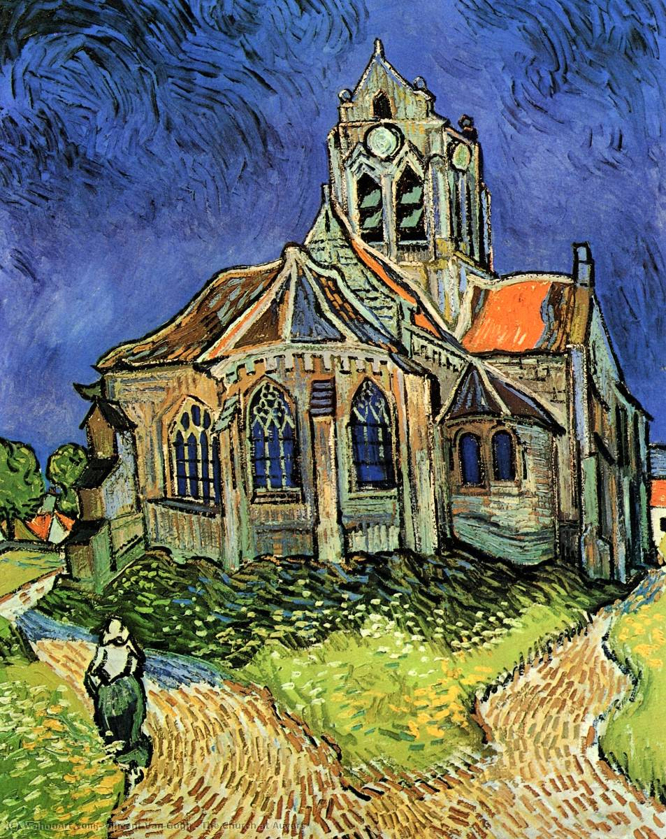 famous painting The Church at Auvers of Vincent Van Gogh