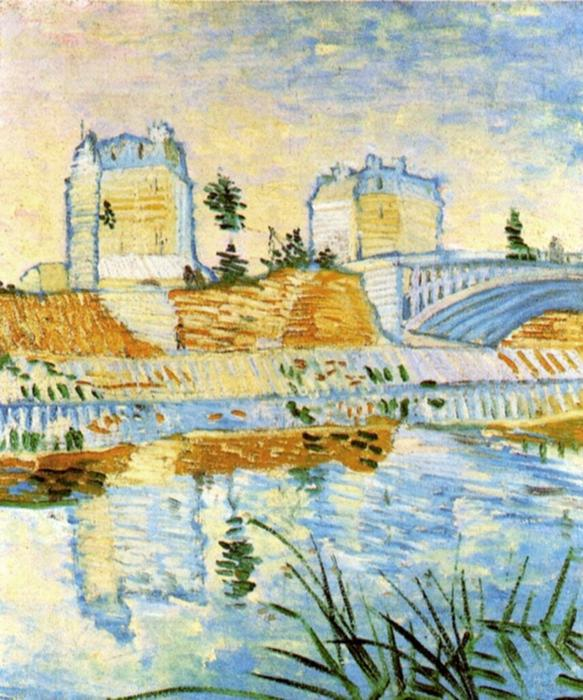 famous painting The Seine with the Pont de Clichy of Vincent Van Gogh