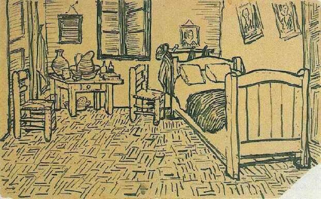 Order Reproductions | Vincent's Bedroom in Arles by Vincent Van Gogh | Most-Famous-Paintings.com