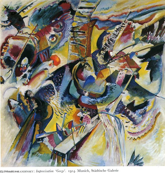 famous painting Improvisation. Gorge of Wassily Kandinsky