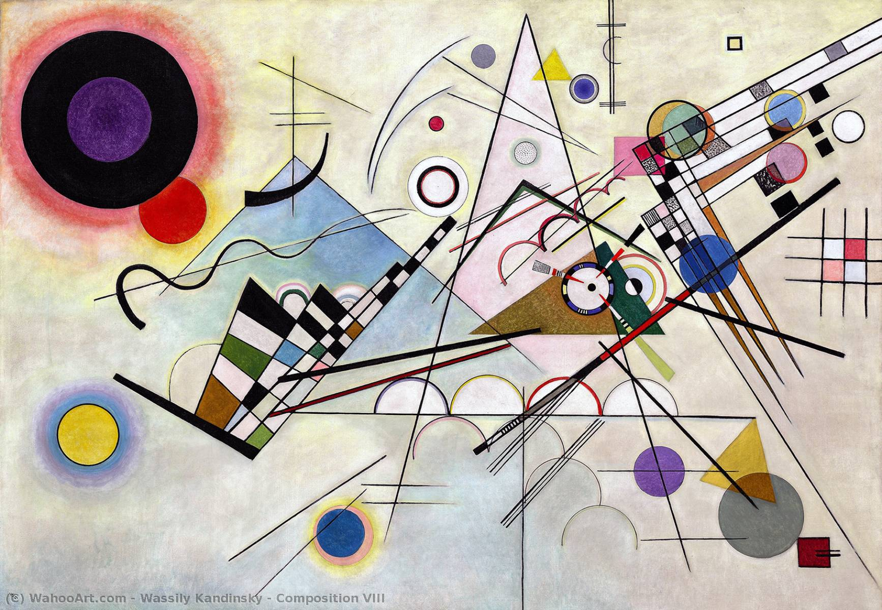 Order Paintings Reproductions | Composition VIII by Wassily Kandinsky | Most-Famous-Paintings.com