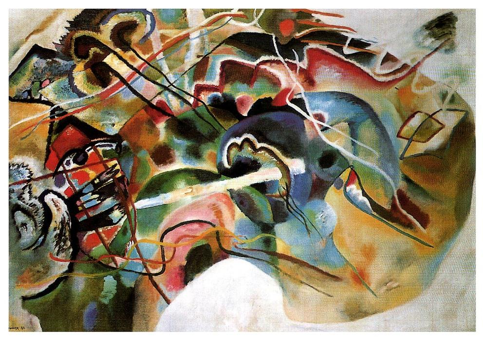 famous painting Picture With A White Border of Wassily Kandinsky