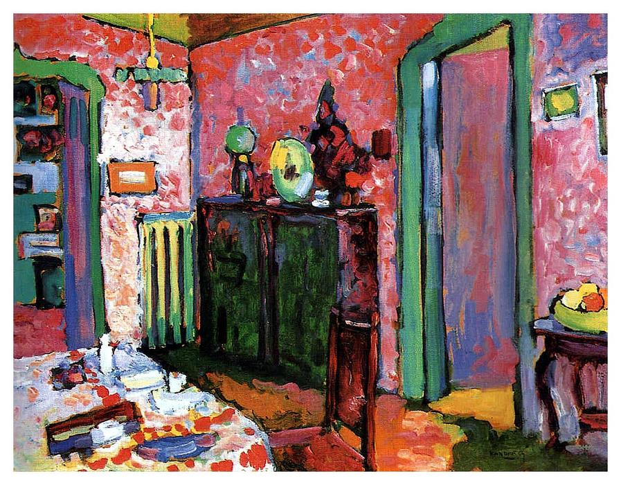 Order Museum Quality Copies | Interior (My dining room) by Wassily Kandinsky | Most-Famous-Paintings.com