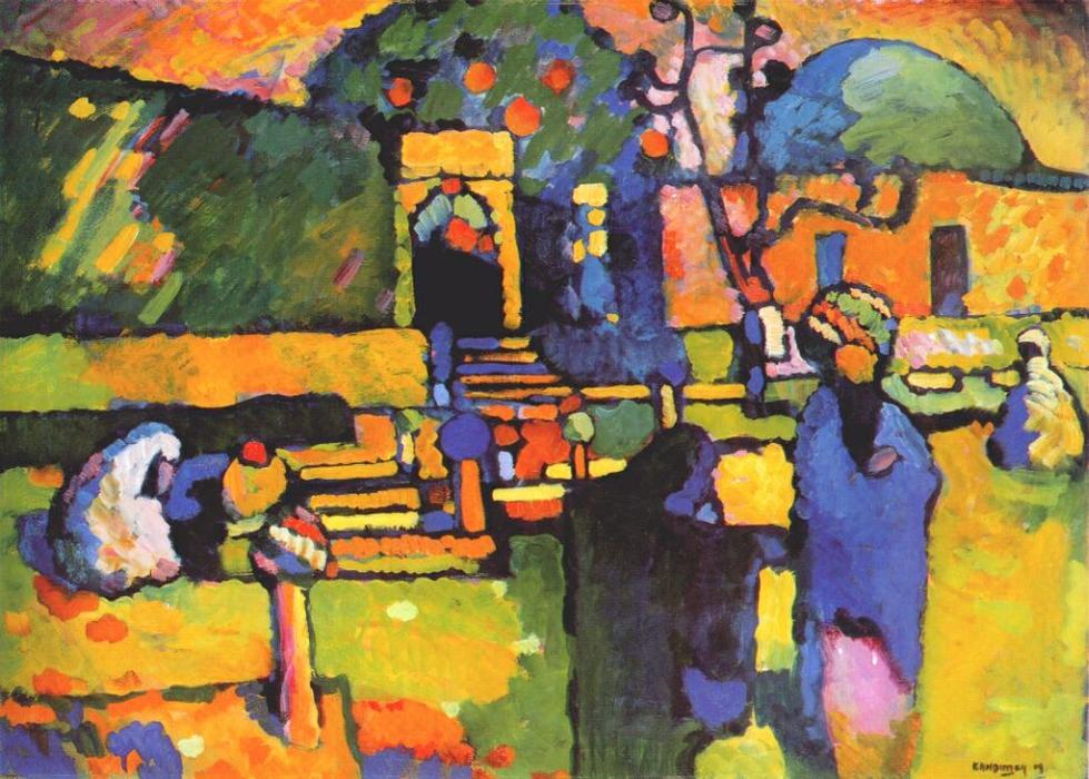 famous painting Arabs I (Cemetery) of Wassily Kandinsky