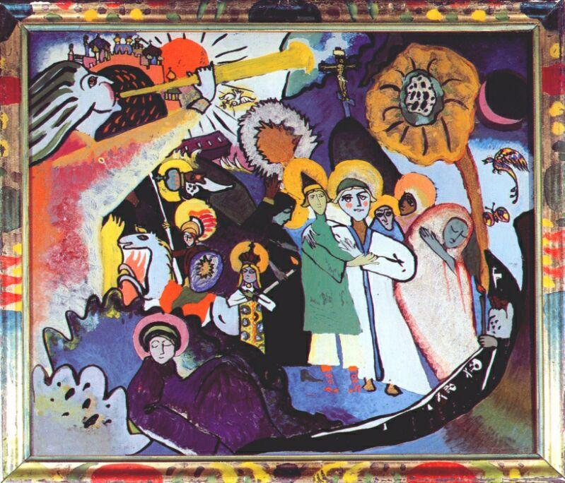 famous painting All Saints day I of Wassily Kandinsky