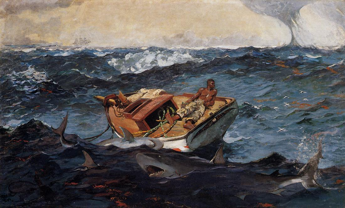 Order Oil Painting : The Gulf Stream by Winslow Homer | Most-Famous-Paintings.com