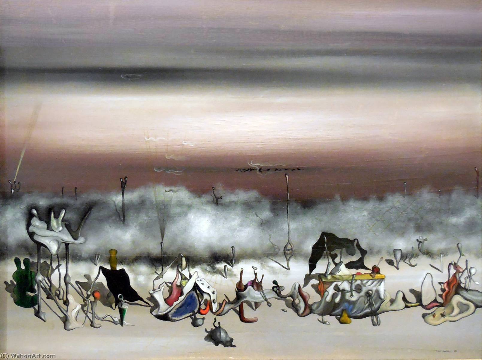 | The Ribbon of Excess by Yves Tanguy | Most-Famous-Paintings.com