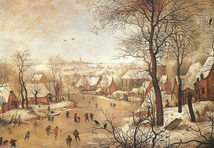 Pieter Bruegel The Younger - Winter Landscape with a Bird-trap
