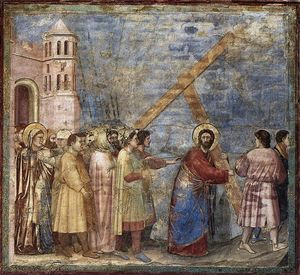 Giotto Di Bondone - No. 34 Scenes from the Life of Christ: 18. Road to Calvary