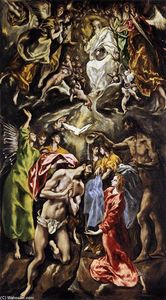 El Greco (Doménikos Theotokopoulos) - The Baptism of Christ