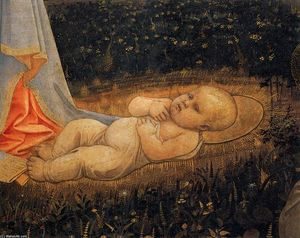 Fra Filippo Lippi - Adoration of the Child with Saints (detail)