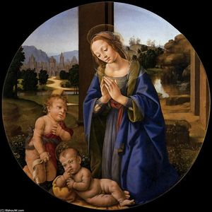 Lorenzo Di Credi - Adoration of the Child