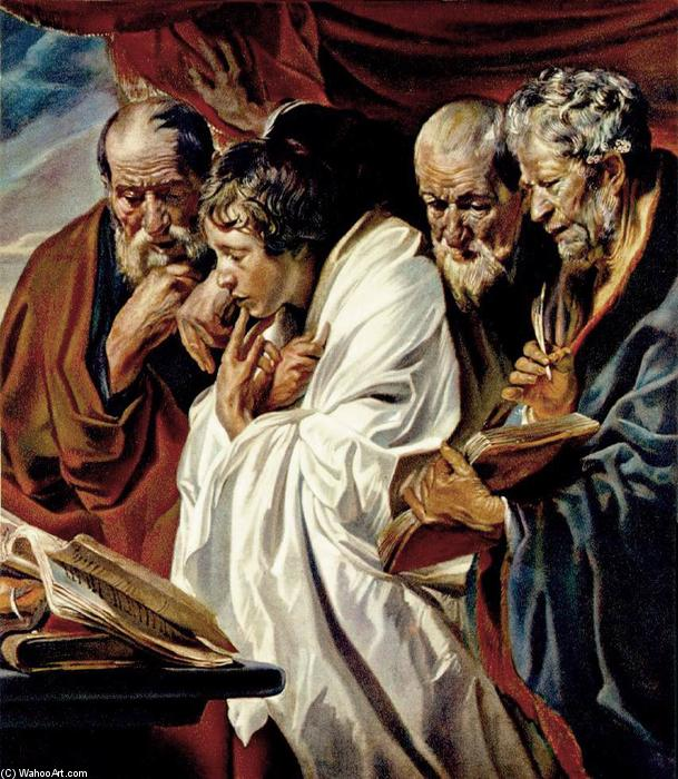 Order Paintings Reproductions | The Four Evangelists by Jacob Jordaens | Most-Famous-Paintings.com