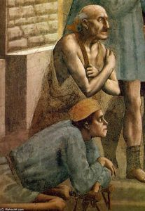 Masaccio (Ser Giovanni, Mone Cassai) - St Peter Healing the Sick with his Shadow (detail)