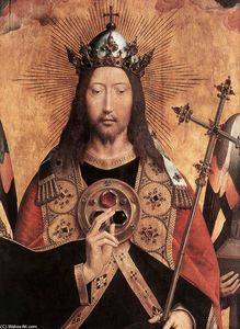 Hans Memling - Christ Surrounded by Musician Angels (detail)