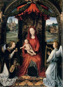 Hans Memling - Madonna Enthroned with Child and Two Angels