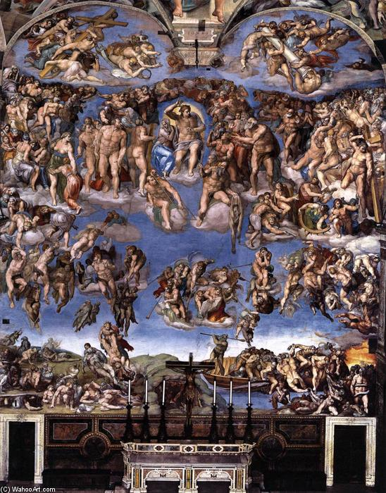 famous painting Last Judgment of Michelangelo Buonarroti