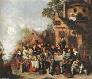 Jan Miense Molenaer - Tavern of the Crescent Moon