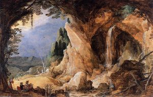 Joos De Momper - Landscape with Grotto