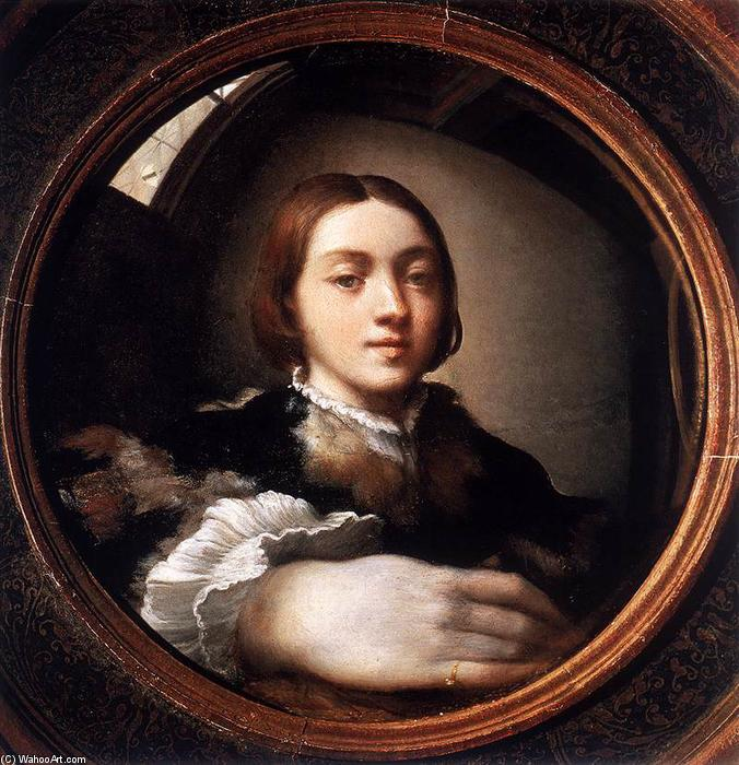 famous painting Self-Portrait in a Convex Mirror of Parmigianino